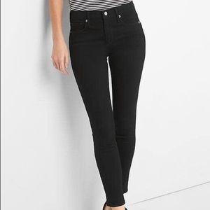 GAP NWOT Black True Skinny Stretchy Ankle Jean